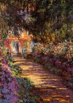 Pathway in Monet's Garden at Giverny - Claude Monet - 1902
