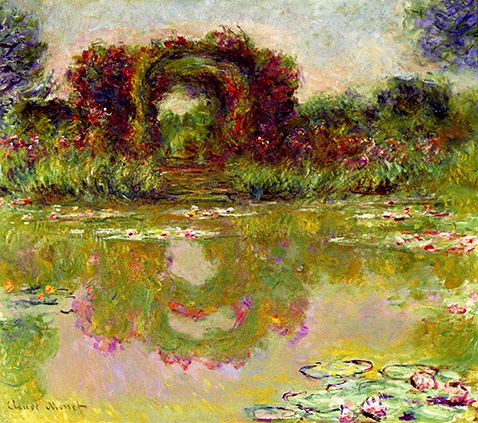 Rose Arches at Giverny - Claude Monet