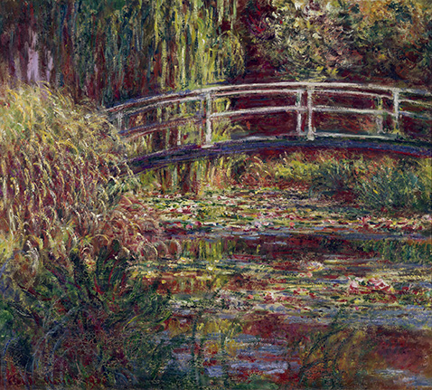 The Japanese Bridge (The Water-Lily Pond Symphony in Rose) - Claude Monet
