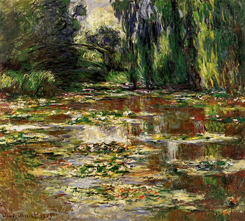 The Japanese Bridge (The Bridge over the Water-Lily Pond) - Claude Monet - 1905