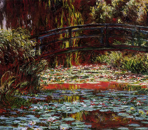 The Japanese Bridge (The Bridge over the Water-Lily Pond) - Claude Monet - 1900