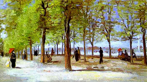 Terrace in the Luxembourg Garden - Vincent Van Gogh