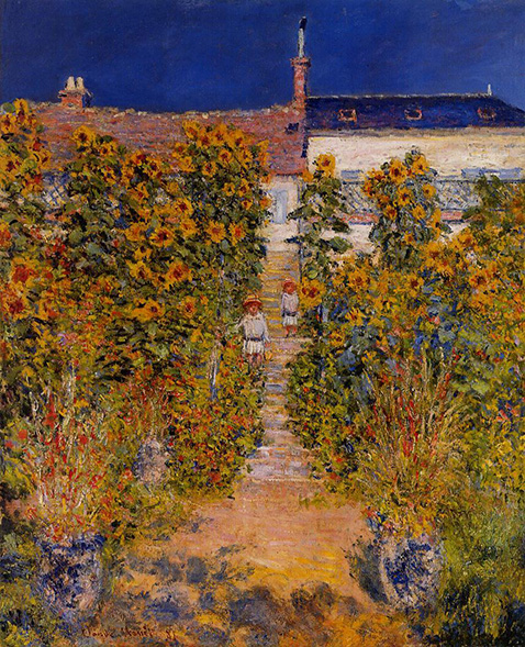 The Artist's Garden at Vétheuil - Claude Monet