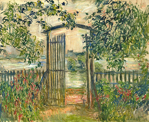 The Garden Gate at Vetheuil  - Claude Monet