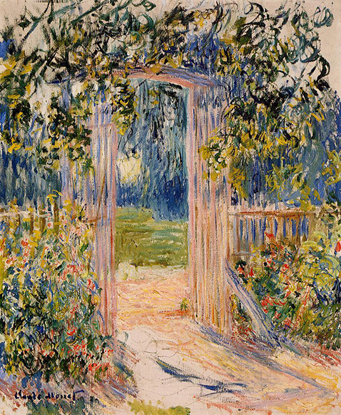 The Garden Gate - Claude Monet