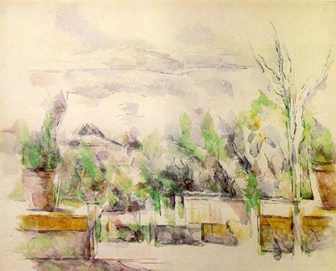 The Garden Terrace at Les Lauves - Paul Cezanne