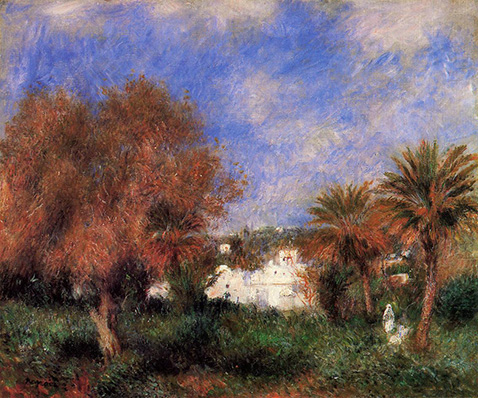 The Garden of Essai in Algiers - Auguste Renoir