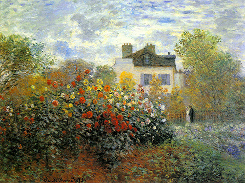 The Garden of Monet at Argenteuil - Claude Monet