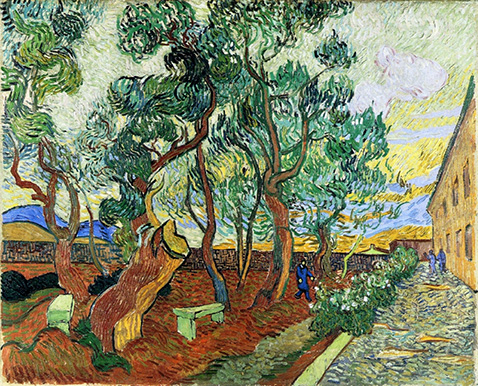 The Garden of St. Paul's Hospital at St. Remy - Vincent Van Gogh