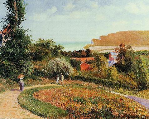 The Garden of the Hotel Berneval - Camille Pissarro