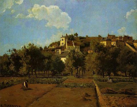 The Gardens of l'Hermitage Pontoise - Camille Pissarro