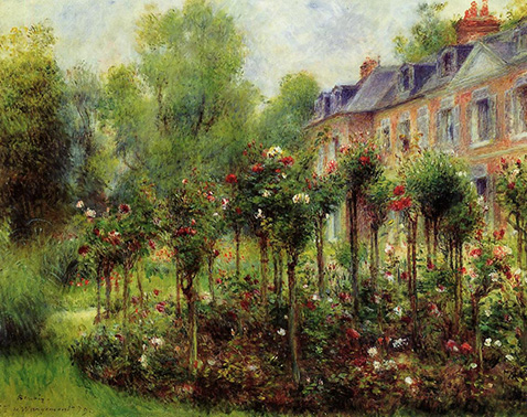 The Rose Garden at Wargemont - Auguste Renoir