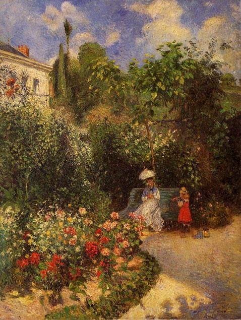 The Garden at Pontoise - Camille Pissarro