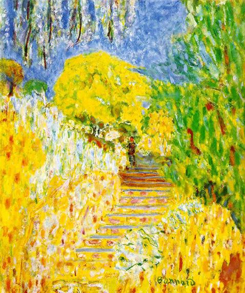 The garden steps - Pierre Bonnard