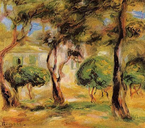 The Garden Collettes - Auguste Renoir