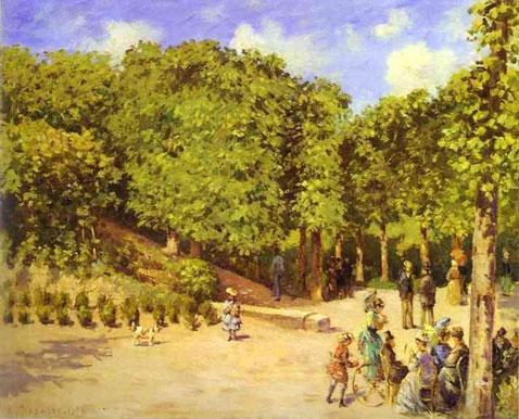 Town Garden in Pontoise - Camille Pissarro