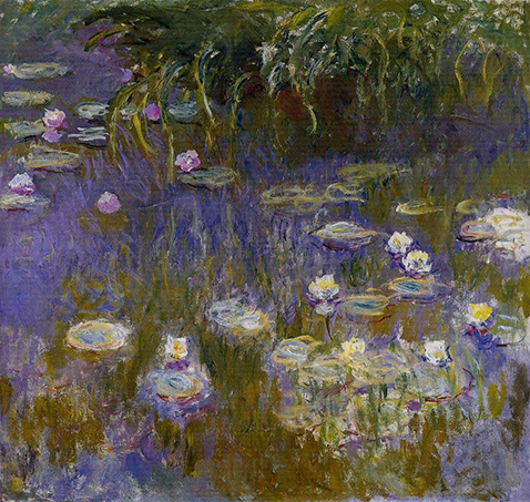 Water Lilies Yellow and Lilac - Claude Monet