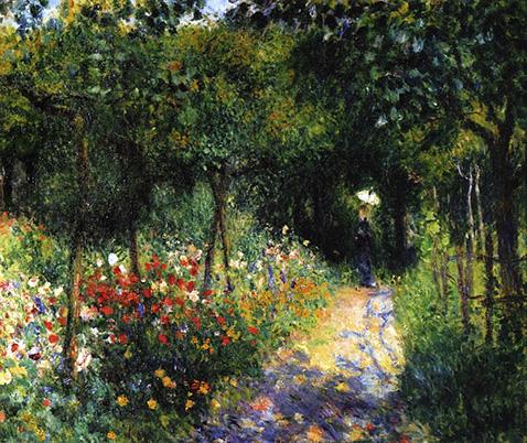 Woman at the Garden - Auguste Renoir