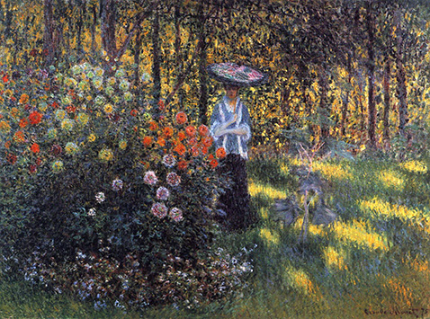 Woman with a Parasol in the Garden in Argenteuil - Claude Monet