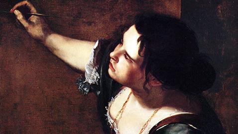 Autoritratto (particolare) - Artemisia Gentileschi