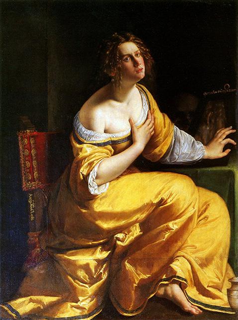 La Conversione della Maddalena - Artemisia Gentileschi