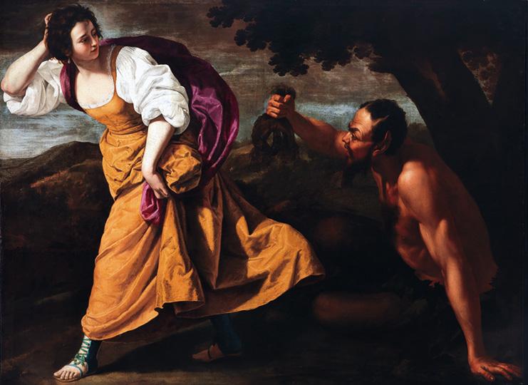 Corsica e il satiro - Artemisia Gentileschi