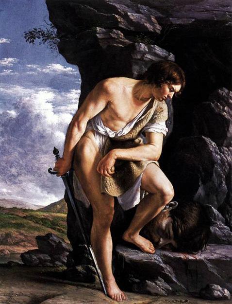 David con la testa di Golia - Orazio Gentileschi
