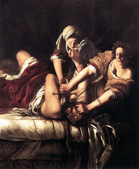 Giuditta decapita Oloferne - Artemisia Gentileschi