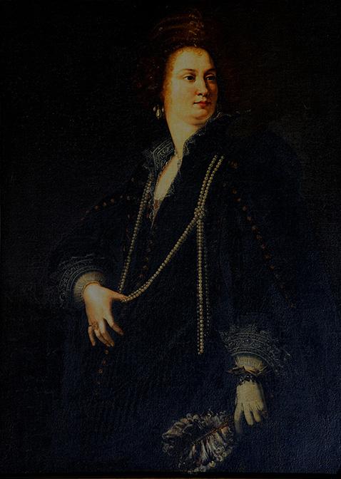 Ritratto di dama con ventaglio - Artemisia Gentileschi