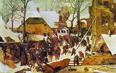 Adorazione dei Magi nella neve - Pieter Brueghel Il Vecchio