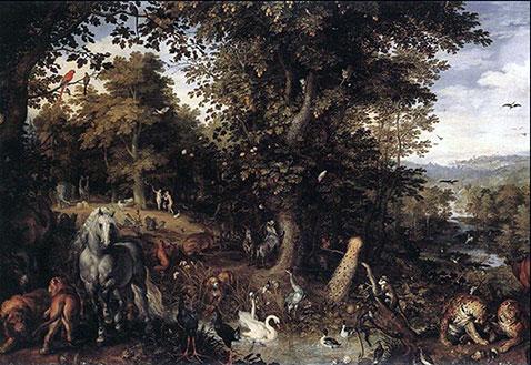 Adamo ed Eva nell'Eden - Pieter Brueghel Il Vecchio