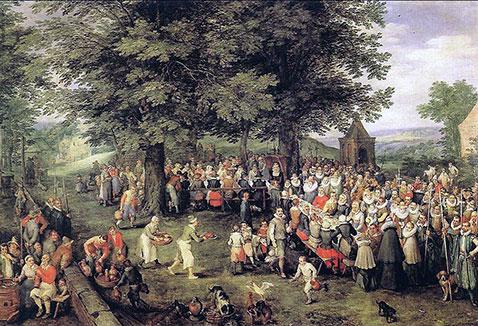 Banchetto di nozze - Jan Brueghel Il Vecchio