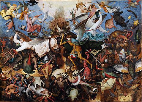 Caduta degli angeli ribelli - Pieter Brueghel Il Vecchio