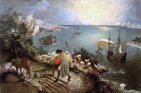 Caduta di Icaro - Pieter Brueghel Il Vecchio