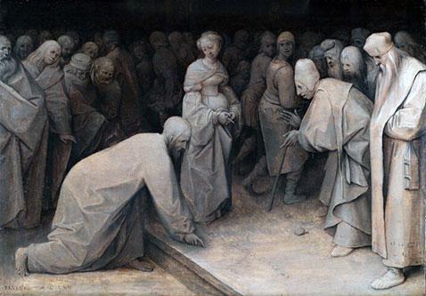 Cristo e l'adultera - Pieter Brueghel Il Vecchio