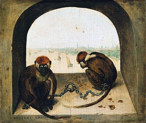 Due scimmie incatenate - Pieter Brueghel Il Vecchio
