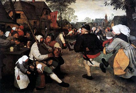 Danza di contadini - Pieter Brueghel Il Vecchio