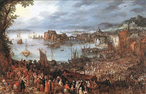 Grande mercato del pesce - Jan Brueghel Il Vecchio