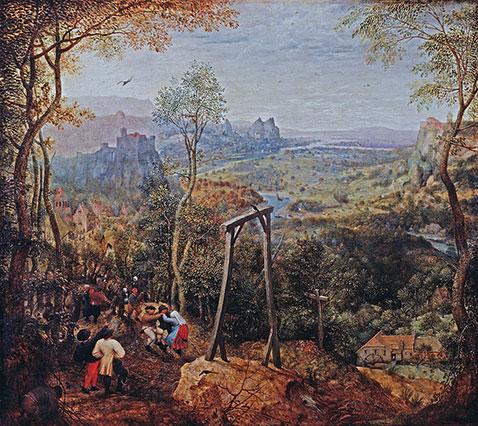 Gazza sulla forca - Pieter Brueghel Il Vecchio