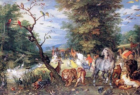 Ingresso animali nell'arca di Noè - Jan Brueghel Il Vecchio