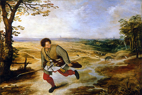 Il Giovane pastore senza fede - Pieter Brueghel Il Giovane