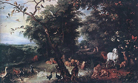 Il peccato originale - Jan Brueghel Il Vecchio