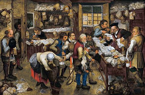 Il pagamento delle imposte - Pieter Brueghel Il Giovane
