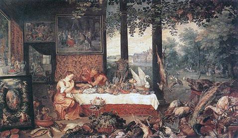 Il senso del gusto - Jan Brueghel Il Vecchio