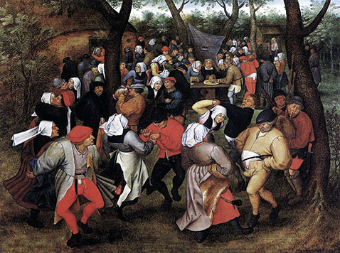 La danza dei contadini - Pieter Brueghel Il Giovane