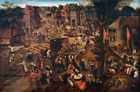 La Festa di san Giorgio - Pieter Brueghel Il Giovane