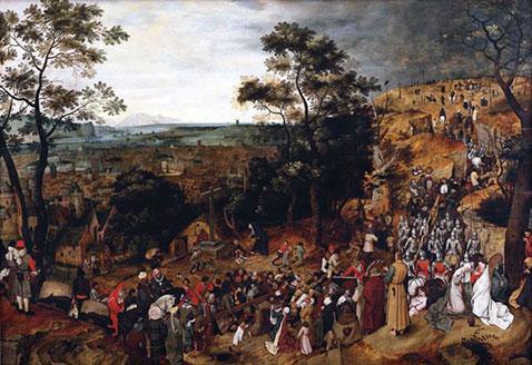 La Processione al Calvario - Pieter Brueghel Il Giovane