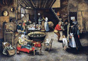 Visita alla casa colonica - Pieter Brueghel Il Giovane