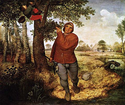 Ladro di nidi - Pieter Brueghel Il Vecchio