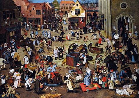Lotta tra Carnevale e Quaresima - Pieter Brueghel Il Giovane